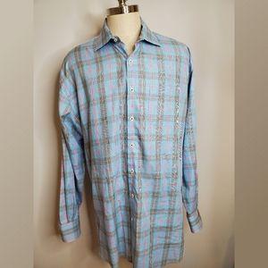 Peter Millar Plaid Button Down Shirt